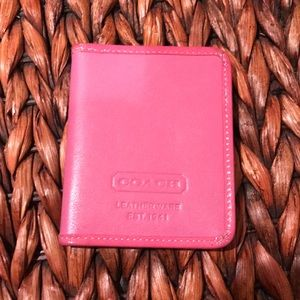 Coach leather ID card case